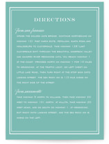 Country Club Direction Cards