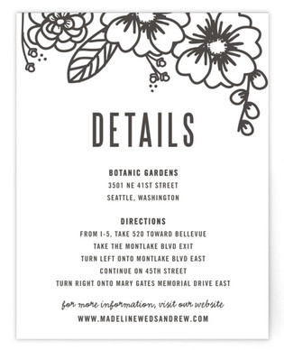 Modern Botanicals Directions Cards