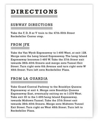 Modern Pop Art Directions Cards