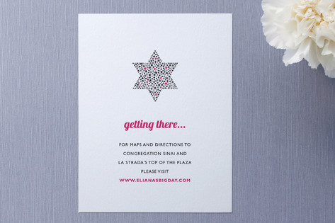 Mitzvah Star Direction Cards