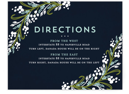 Midnight Floral Directions Cards