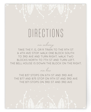 Lacey Overtones Directions Cards