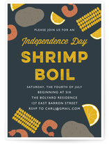Shrimp Boil 4th of July Online Invitations