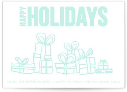 Merry Triptych Completely Custom Your Drawing As Letterpress Card