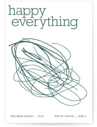 Happy Everything Completely Custom Your Drawing As Letterpress Card