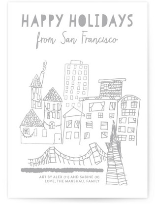 Happy Holidays From The City Completely Custom Your Drawing As Letterpress Card