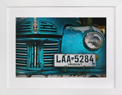 Rusted Antique Domino Non-custom Art Print