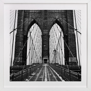 Snowing Bridge Domino Non-custom Art Print