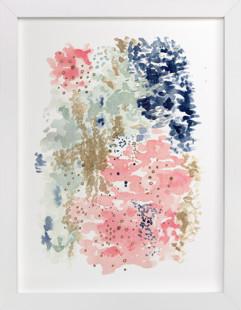 Reflections Watercolor Domino Non-custom Art Print