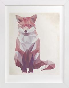 Geometric Fox Domino Non-custom Art...