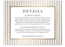 Gilded Bloom Foil-Pressed Direction Cards
