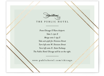Modern Angle Foil-Pressed Direction Cards
