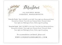 Painted Wreath Foil-Pressed Direction Cards