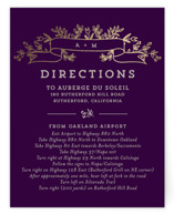 Wedding Bouquet Foil-Pressed Direction Cards
