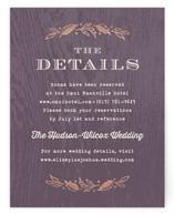 Woodland Romance Foil-Pressed Direction Cards