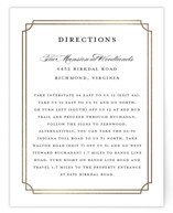 Luxe Border Foil-Pressed Direction Cards