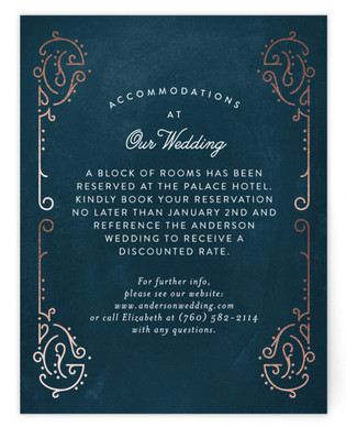 Dainty Deco Foil-Pressed Direction Cards