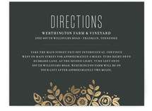 White Shadows Foil-Pressed Direction Cards