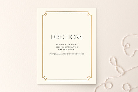 Modern Classic Foil-Pressed Direction Cards
