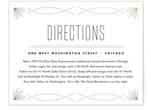Savoy Foil-Pressed Direction Cards