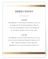 Classic Monogram Foil-Pressed Direction Cards