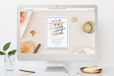 Shanah Tovah Rosh Hashanah Online Invitations