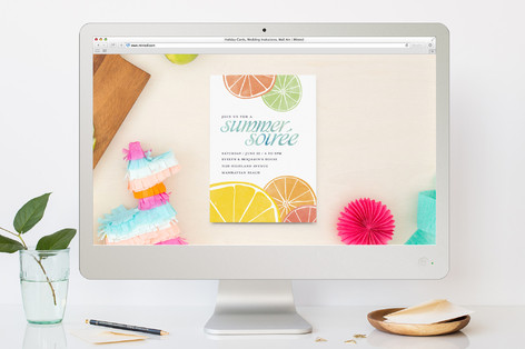 Summertime Soiree Summer Party Online Invitations