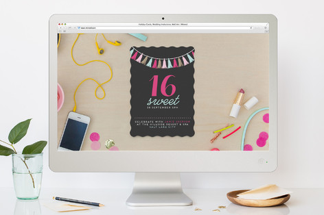 The Sweetest Celebration Teen Birthday Party Online Invitations