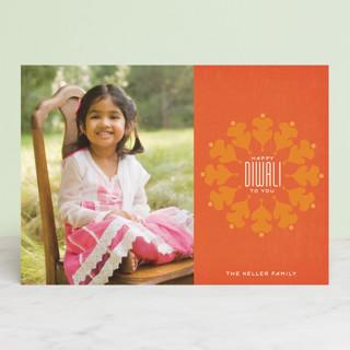 Vermilion Diwali Cards