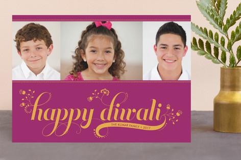 Floral Diwali Diwali Cards