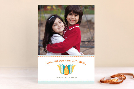 Bright Lotus Diwali Cards