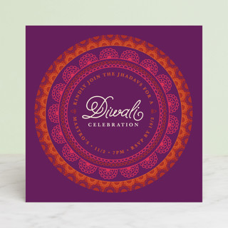 Rangoli Rings Diwali Cards