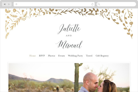 Garden Romance Wedding Websites