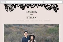 Modern Floral Frame Wedding Websites