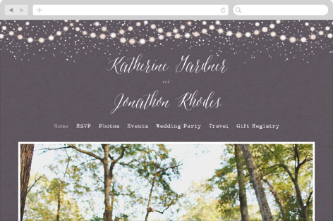 Garden Lights Wedding Websites