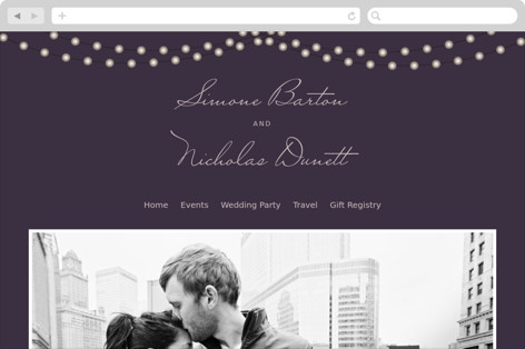 Midnight Vineyard Wedding Websites