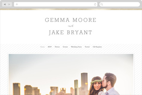 Modern Photo Frame Wedding Websites