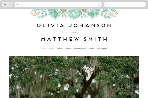 Watercolor Delight Wedding Websites