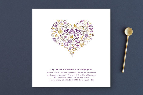 Love Birds Engagement Party Invitations