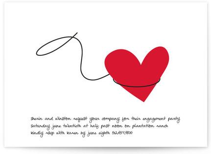 Lasso Engagement Party Invitations