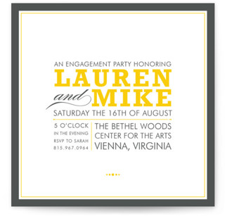 Cocktail Hour Engagement Party Invitations