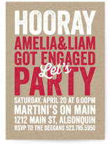 Stamped On Kraft Engagement Party Invitations