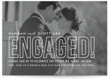 Modern Romantic Engagement Party Invitations