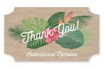 Tropical Celebration Engagement Party Favor Stickers