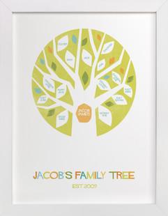 Jacob's Tree Family Tree Custom Art Print