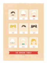 Modern Family Tree Family Tree Custom Art Print