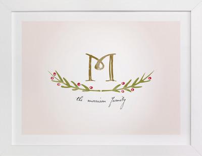 Family Monogram Family Tree Custom Art Print