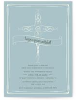 Delicate Cross First Communion Invitations