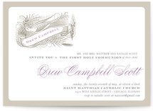 float + birdie baptism First Communion Invitations