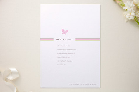 Flutter and Stripe First Communion Invitations